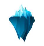 Fototapety iceberg on white