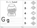 Fototapety Alphabet A-Z Tracing and puzzle Worksheet,  Exercises for kids - Coloring book - illustration and vector outline