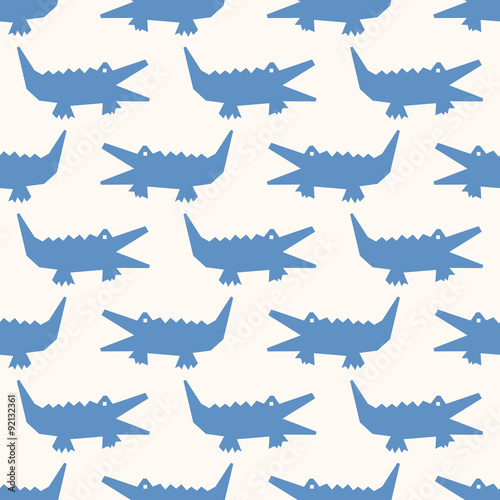 seamless alligator pattern - 92132361