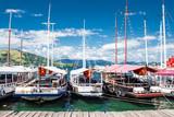 Sailing boats on port of Angra dos Reis city , state of Rio de J