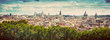 Panorama of the ancient city of Rome, Italy. Vintage