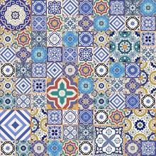 Mega szwu wzór patchwork. Płytki marokańskie, ozdoby.