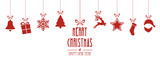 Fototapety christmas elements hanging red isolated background