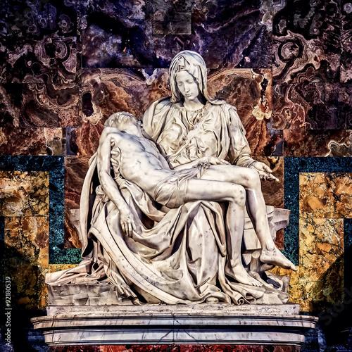 Fototapeta Pieta marble sculpture