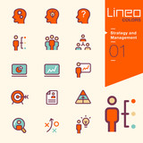 Lineo Colors - Strategy and Management icons