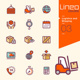 Lineo Colors - Logistics and Shipping icons