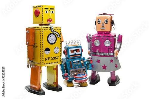 Foto op Canvas Robot family.