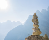 Stacked rock tower