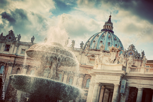 Poster The fountain and the dome of St