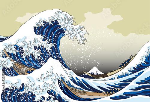 富嶽三十六景 神奈川沖浪