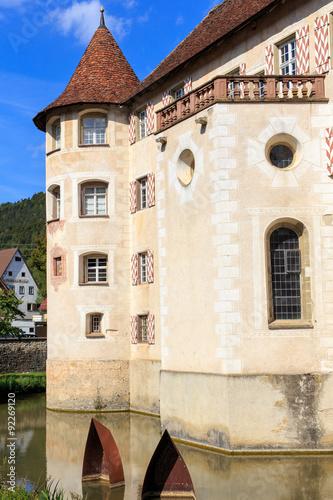 Leinwandbild Motiv Wasserschloss Glatt