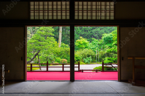 Foto op Canvas Bedehuis 京都 曼殊院門跡 新緑
