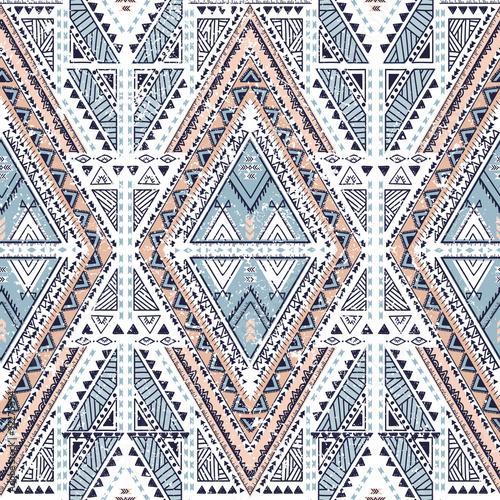 Cotton fabric Ethnic geometrical pattern, tribal seamless background