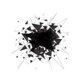 Abstract black explosion. Vector illustration.