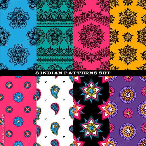 Colorful Indian Eastern Asian Patterns Set Buy Photos AP Images Unique Asian Patterns