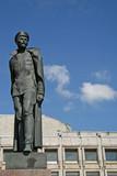 ST. PETERSBURG, RUSSIA - JULY 18, 2009: Monument to Felix Dzerzhinsky on Shpalernaya street poster