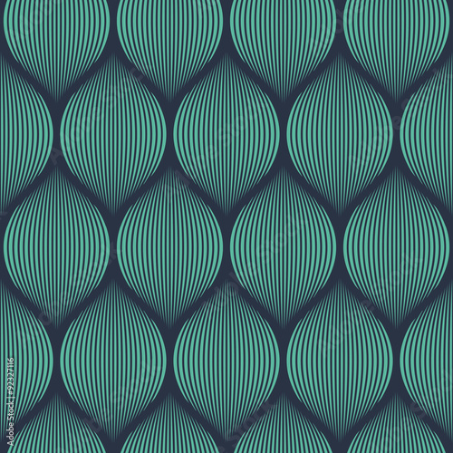 Fototapeta Seamless neon blue optical illusion woven pattern vector