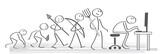 Fototapety Evolution - von der Steinzeit zum modernen Menschen