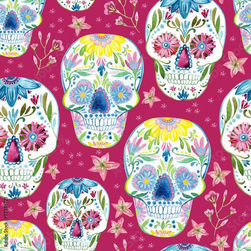 Sugar skull painting - 92344721