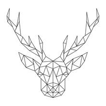 Łamana głowy jelenia. Ikona twórcze sztuki stylizowane
