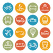 Detaily fotografie Transport line icons