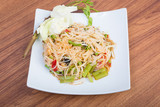 green papaya spicy salad Thai style