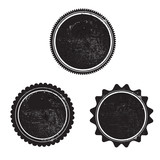grunge stamp black templeta vector with textures - 92358923