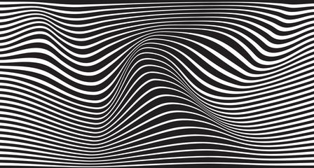 fala mobious czarno-biały pasek konstrukcja optyczna