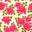 Seamless wallpaper pattern with roses.