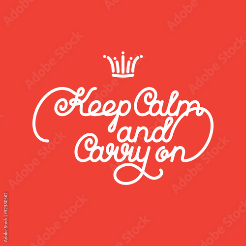 Fototapeta keep calm and carry on