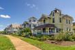 Colorful Houses in Oak Bluffs on Marthas Vinyard