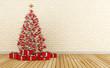 Obrazy na płótnie, fototapety, zdjęcia, fotoobrazy drukowane : Red and white christmas room