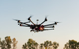 Oktokopter, copter, drone poster