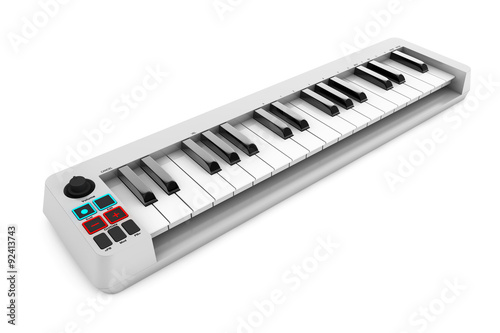 Digital Piano Synthesizer. 3d rendering © doomu