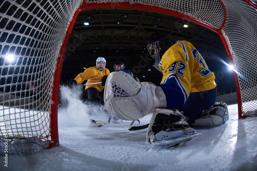 fototapeta na ścianę ice hockey goalkeeper