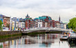 View of Dublin with the Ha'penny Bridge - Ireland - 92421396