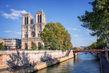 Notre Dame de Paris and the river Seine, Paris, France
