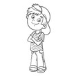 Coloring Page Outline Of A Cartoon Boy