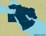 Middle East Map - 92435587