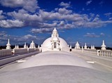 White Rooftop Architecture of the Leon Cathedral, Nicaragua, Central America poster