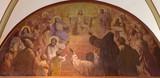 Vienna - Heart of Jesus Christ with the saints in - Herz Jesu Kirche