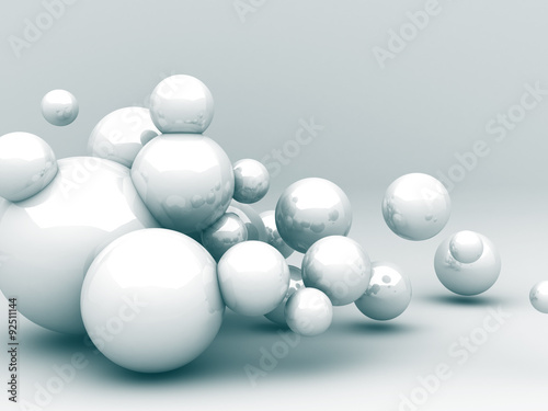 Abstract Futuristic Sphere Reflect Background