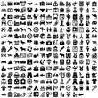 Symbole für Urlaub, Hotel und Reisen