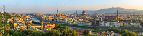 Poster Florence Florence city skyline panorama - Florence - Italy