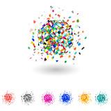 Vector color explosion. Set.