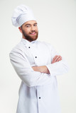 Chef cook standing with arms folded