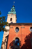 - The church tower of the former Protestant church in Leszno.
