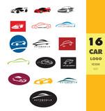 Car shape logo set