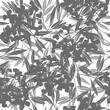Vector floral abstract background with flowering branches.