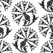 Seamless pattern with stylized cornflower.